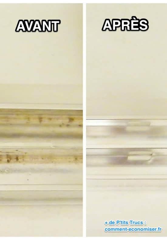 Comment nettoyer les rails de portes coulissantes de la douche ?