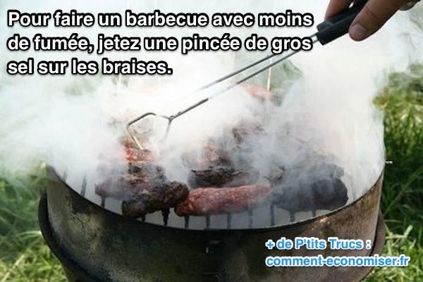 Comment faire un barbecue avec moins de fumée