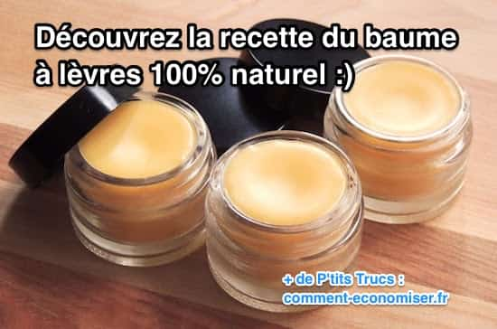 recette du baume à lèvres 100% naturel beurre de cacao