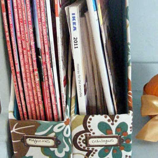 boite de rangement pour magazines diy