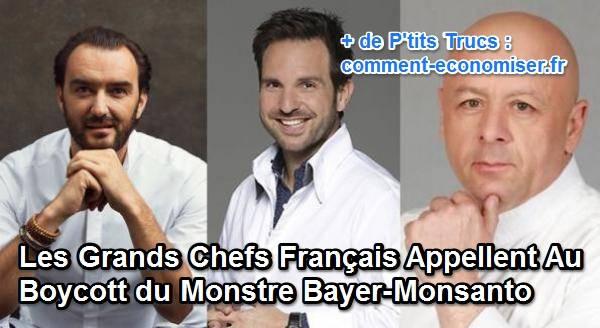 les chefs étoilés appellent au boycott du groupe monsanto bayer