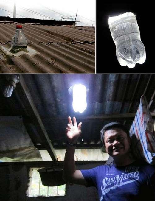 fabriquer ampoule solaire avec bouteille plastique recyclée