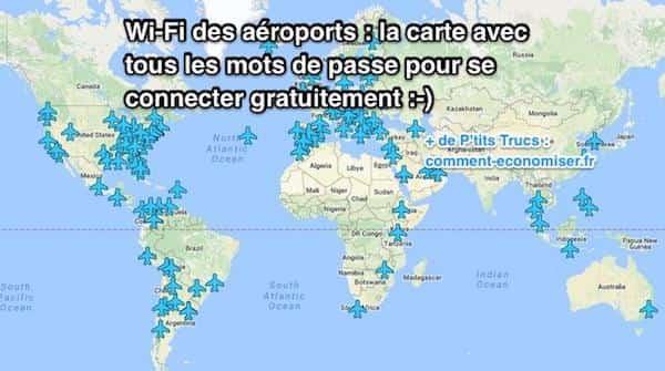 Mots de passe des wifi dans les aéroports