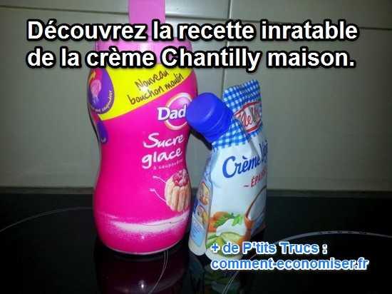 recette facile de la crème chantilly maison