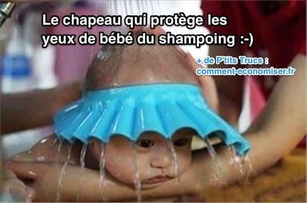 Yeux de bébé qui piquent à cause du shampoing