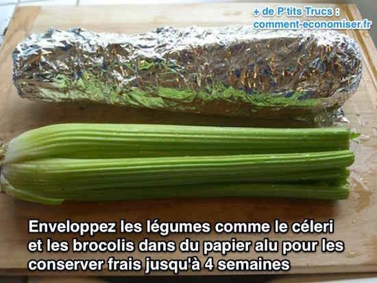 légumes emballés dans du papier alu
