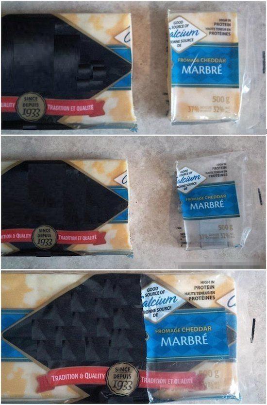 Utilisez l'emballage pour le refermer et conserver le fromage plus longtemps