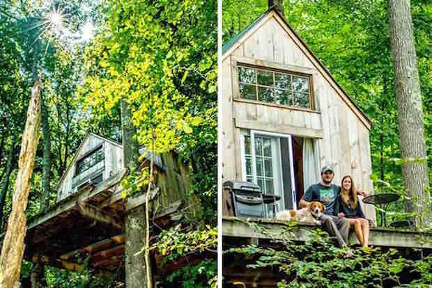 Dave le charpentier et sa femme qui vivent dans les bois