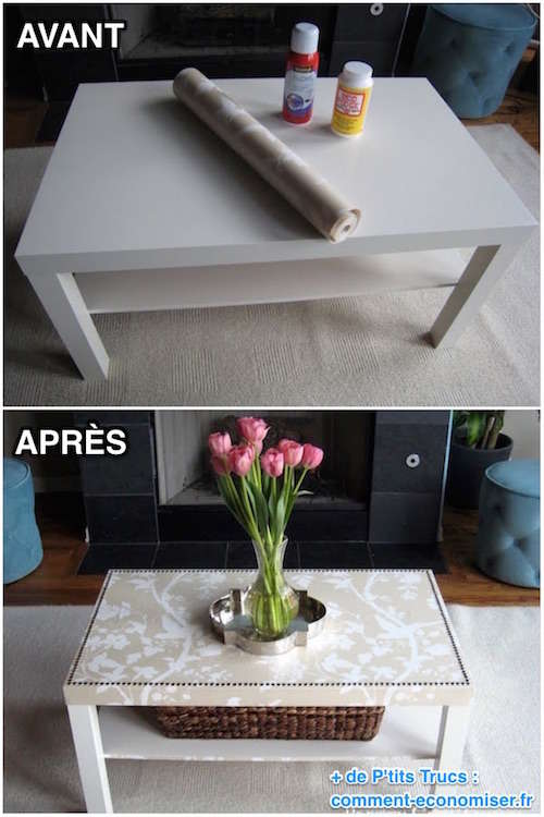 comment facilement transformer une table ikea en meuble chic. Black Bedroom Furniture Sets. Home Design Ideas