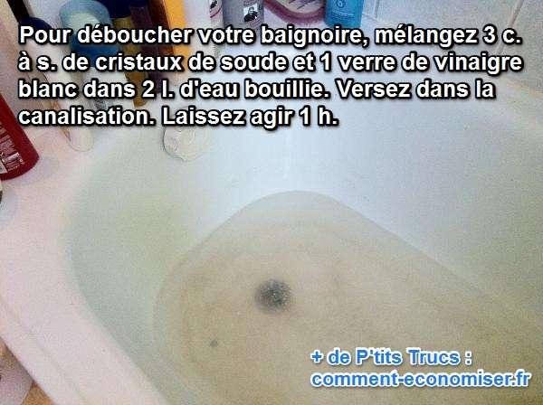 Deboucher bicarbonate vinaigre great deboucher with - Deboucher canalisation bicarbonate soude vinaigre blanc ...