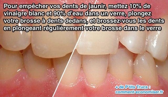 vinaigre sur les dents
