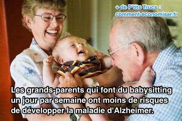 garder ses petits-enfants une fois par semaine permettrait de prévenir le développement d'Alzheimer