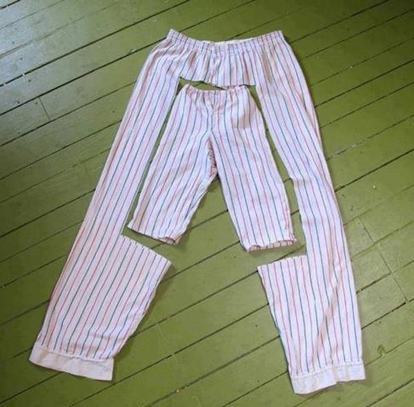 Comment recycler vieux pyjamas en pyjamas pour enfants