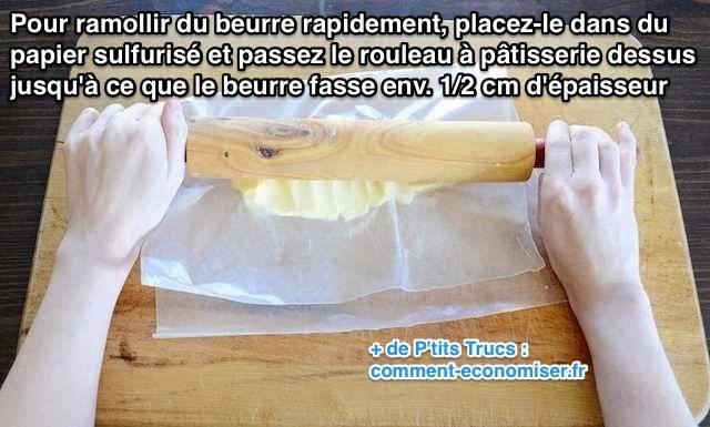 enfin une astuce pour ramollir du beurre rapidement. Black Bedroom Furniture Sets. Home Design Ideas
