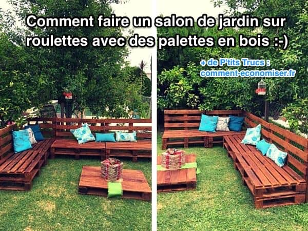 comment faire un salon de jardin sur roulettes avec des. Black Bedroom Furniture Sets. Home Design Ideas