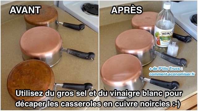 Comment nettoyer et décaper casseroles en cuivre étamé