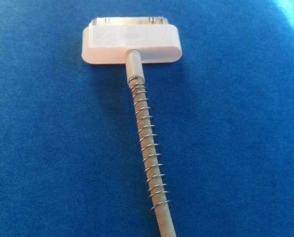 Utilisez un ressort de stylo pour protéger câble chargeur