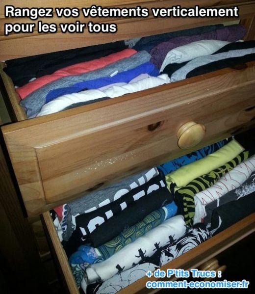 Astuce pour ranger ses vêtements dans un tiroir