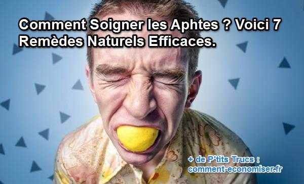 aphte traitement citron