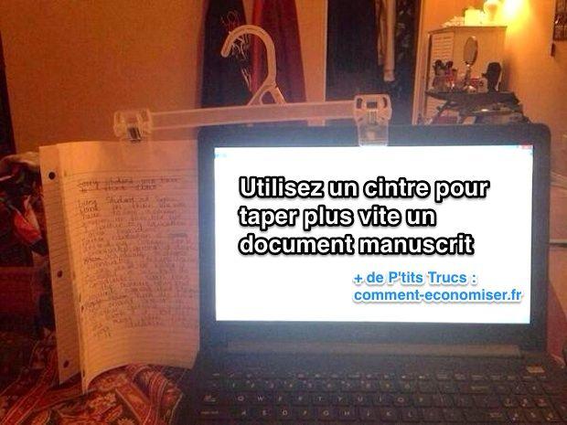 l u0026 39 astuce pour taper plus vite un document manuscrit