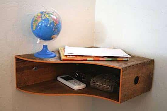 créer une étagère d'angle facilement et rapide à poser
