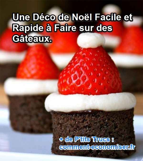 decoration gateau noel facile