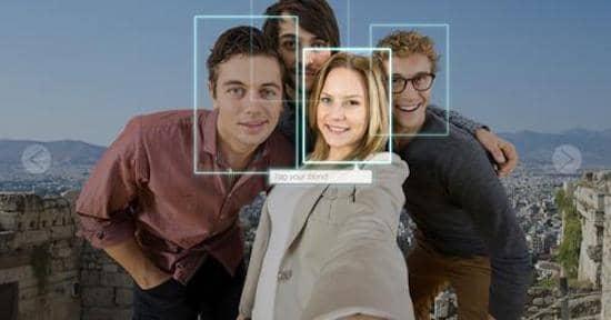 Visages de personnes identifiés par le système de reconnaissance faciale de Facebook.