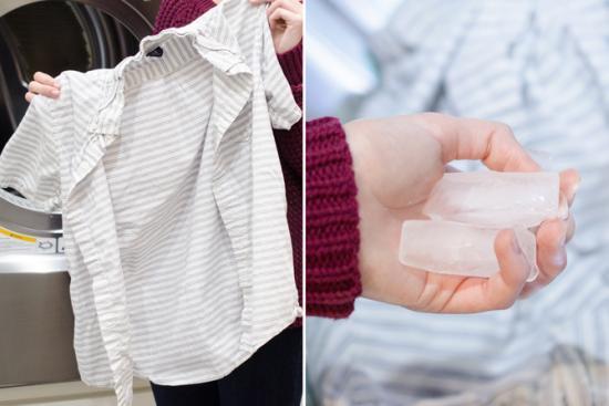 mettez des glaçons dans votre sèche linge pour défroisser le linge