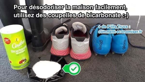Les 3 meilleures astuces pour d sodoriser toute la maison facilement - Bicarbonate de soude chaussures ...