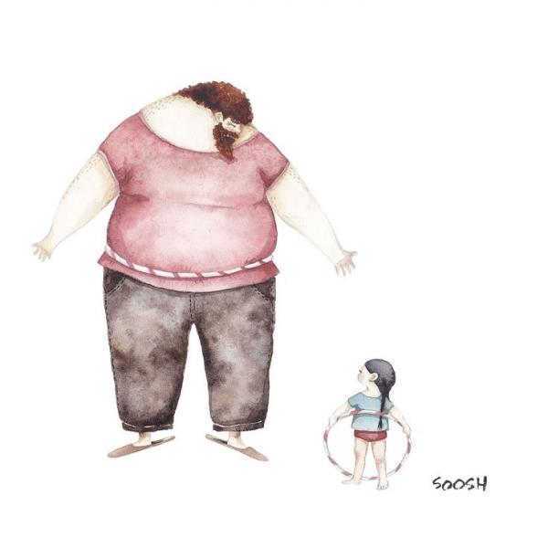 Dessin Fille les relations père-fille expliquées en 10 dessins.