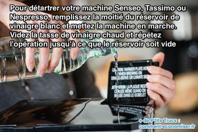 Comment d tartrer votre machine senseo tassimo ou nespresso pour 0 45 - Comment detartrer une cafetiere ...