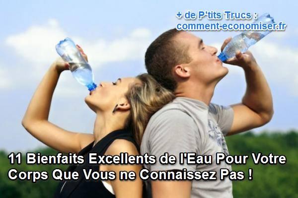 Raisons de boire plus d'eau pour un corps en meilleur santé