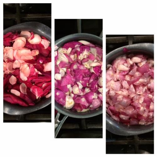 faites infuser les pétales de rose 20 min