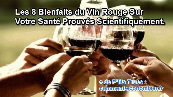 Découvrez les 8 bienfaits surprennants du vin rouge.