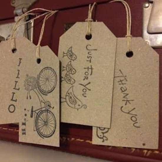 étiquette diy pour identifier les cadeaux