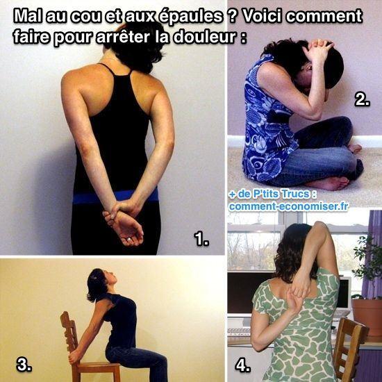 Etirements à faire pour calmer douleur cou et épaules
