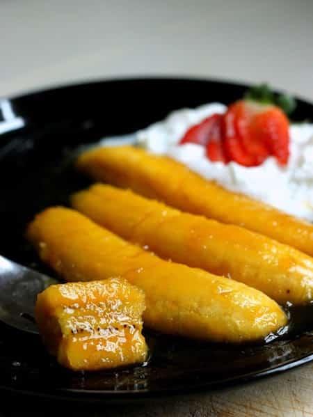 recette banane flambées raide et pas chère