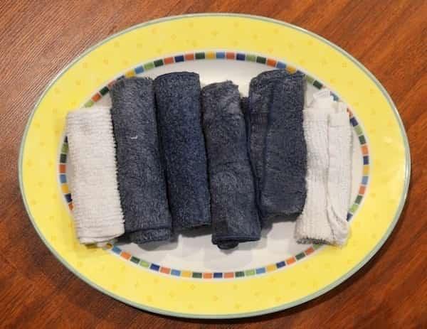 serviettes congelées pour lutter contre chaleur