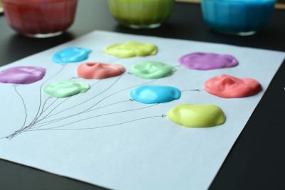 comment faire des ballons avec de la peinture mousse