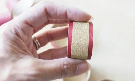 faire rond de serviette bricolage rouleau papier toilette
