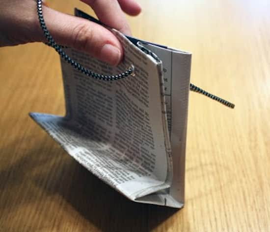 Pré-commander coupe classique hot-vente plus récent Comment Faire un Sac Cadeau Original En Papier Journal.