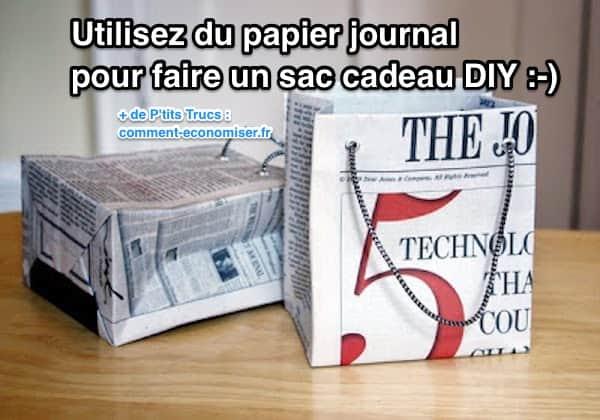 Extrêmement Comment Faire un Sac Cadeau Original En Papier Journal. JZ68