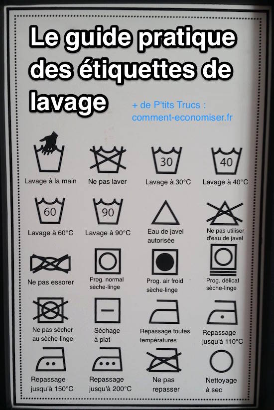 tiquettes de lavage enfin un guide pour comprendre leurs significations. Black Bedroom Furniture Sets. Home Design Ideas