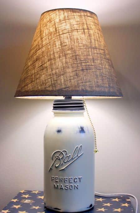 Projet déco : transformez un vieux bocal en pied de lampe