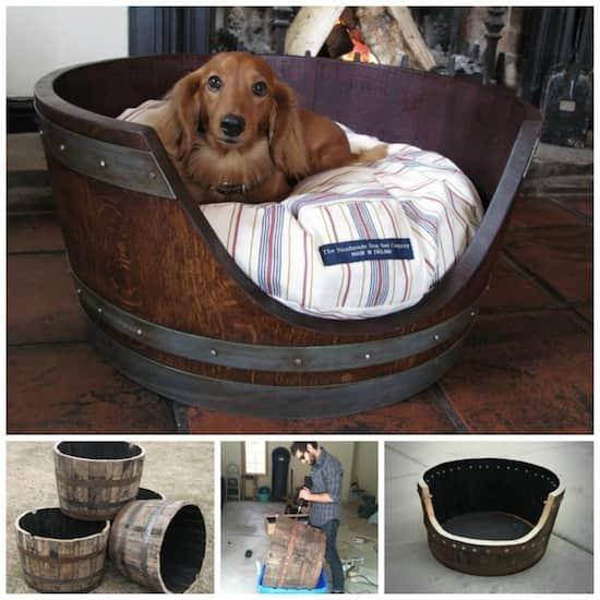 Projet déco : transformez un tonneau de vin en panier pour chien