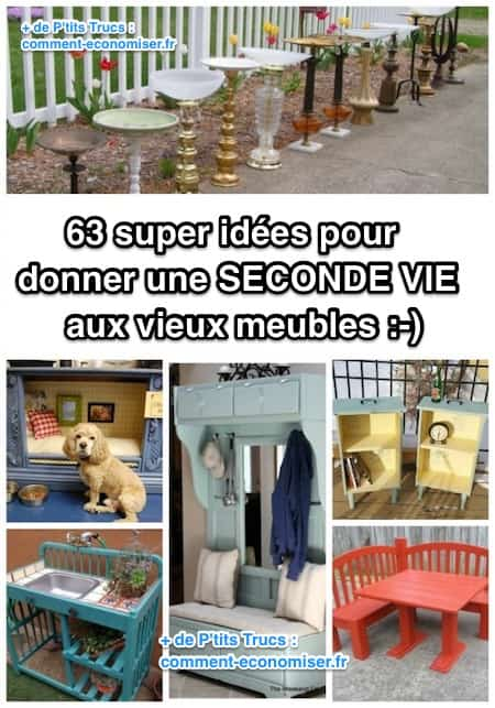 63 super id es pour donner une seconde vie aux vieux meubles. Black Bedroom Furniture Sets. Home Design Ideas