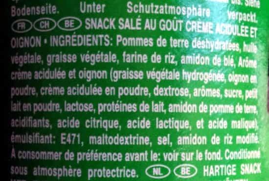 Voici les ingrédients des chips Pringles, une bonne raison de ne plus JAMAIS en manger !