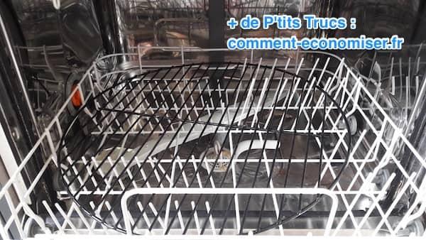 grille de barbecue dans un lave-vaisselle