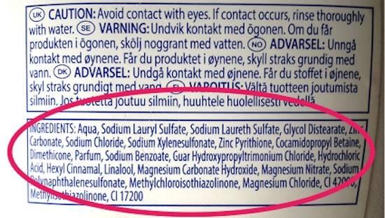 Liste des ingrédients toxiques dans les cosmétiques