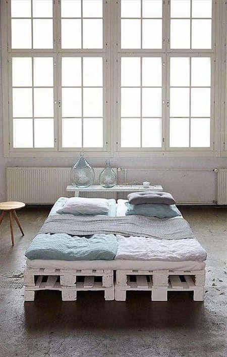 Idées Géniales De Lits En Palettes Faits Maison - Lit double palette